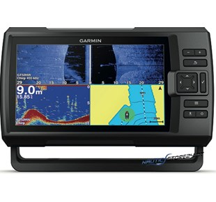 Garmin Fishfinder Striker Plus 9sv mit ClearVü/SideVü-Geber