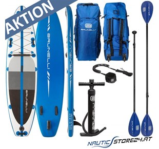 Brunelli Premium SUP Stand up Paddle Board in blau weiß 10.8 325cm