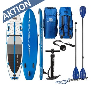 Brunelli Premium SUP Stand up Paddle Board in blau weiß 12.0 365cm