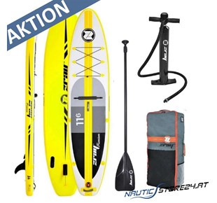 Z-Ray A4 SUP Stand Up Paddle Board gelb 3,50m lang