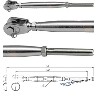 Blue Wave Wantenspanner Gabel-Terminal (Zoll)