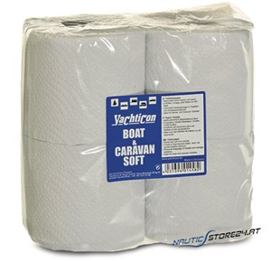 Yachticon Boat & Caravan Soft WC Papier 4 Rollen Packung