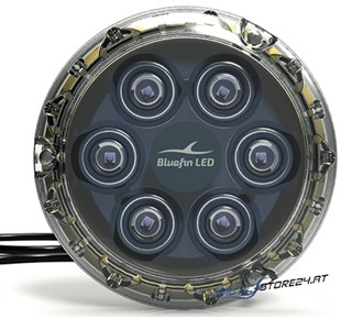BluefinLED Piranha P6 Nitro 6 LED (3.000 Lumen) 12V Ø 110x17,6mm