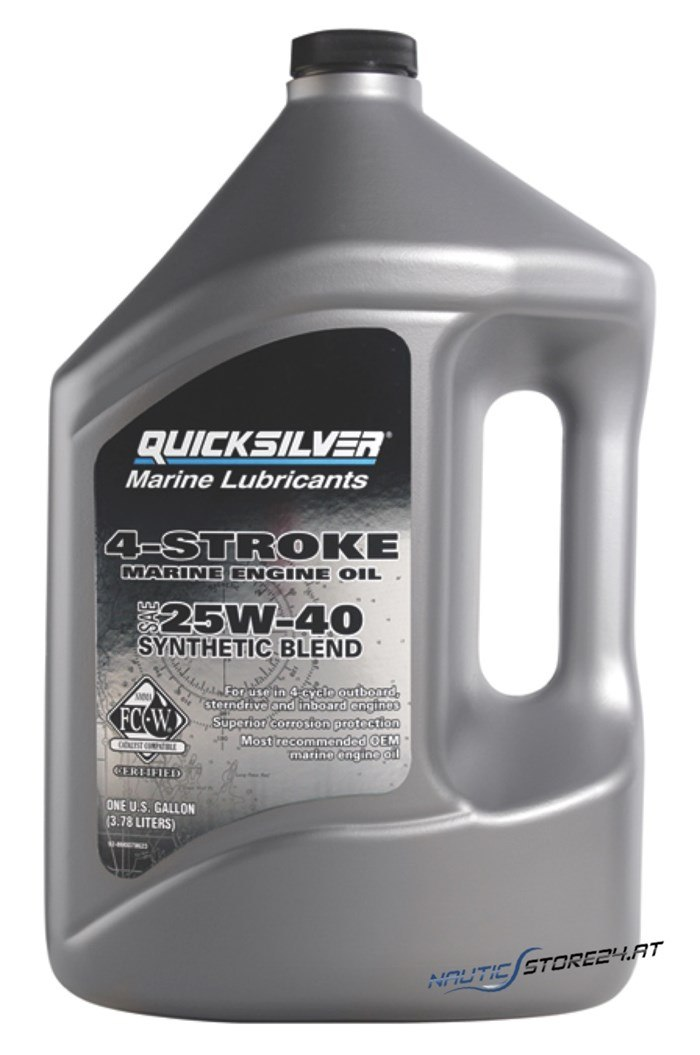 Mercury/Quicksilver Motoröl 25W-40 Synthetic 4-Takt 4L (92-8M0086227)